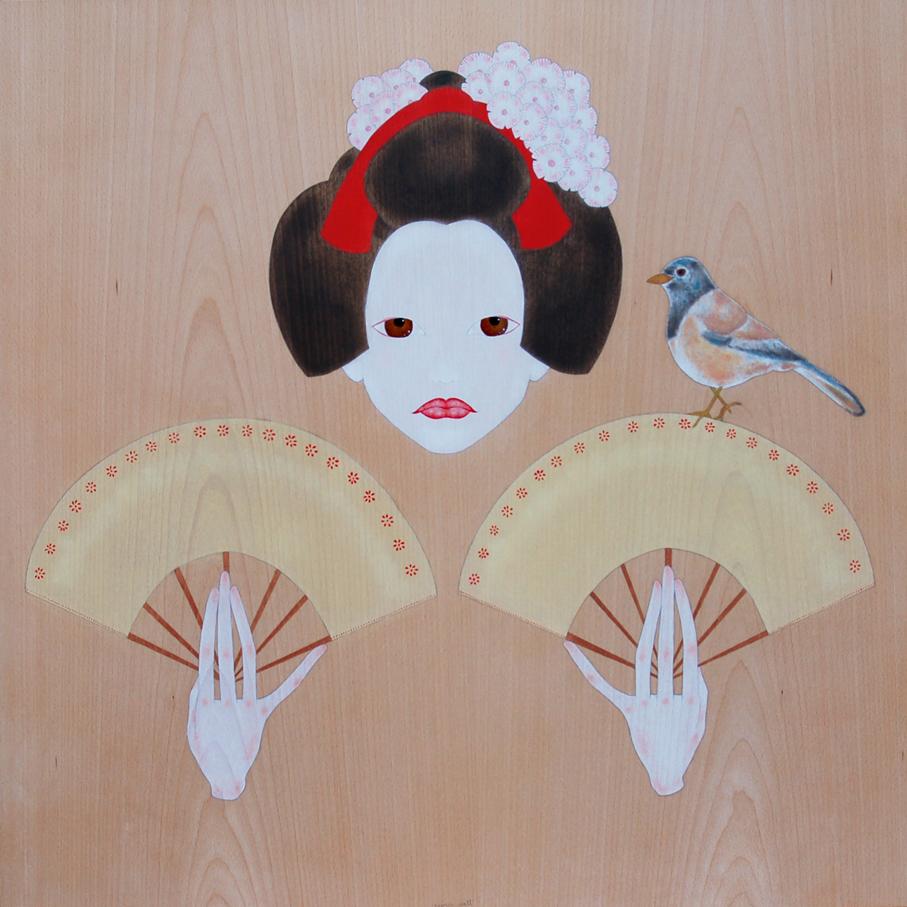 """""""geisha ballant amb ventalls"""""""