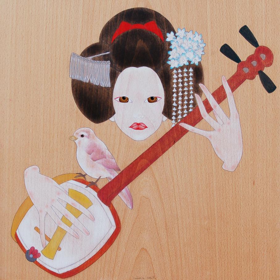 """maiko tocant el shamisen"""