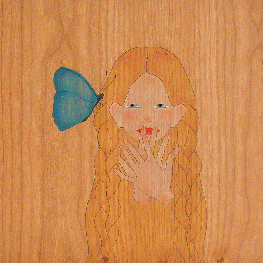 amb quina tendresa m'acaricies els cabells papallona
