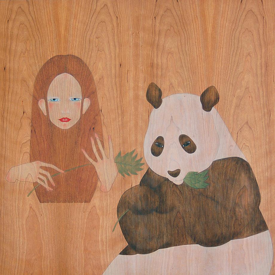 que vols fulles de bambú,  os panda?