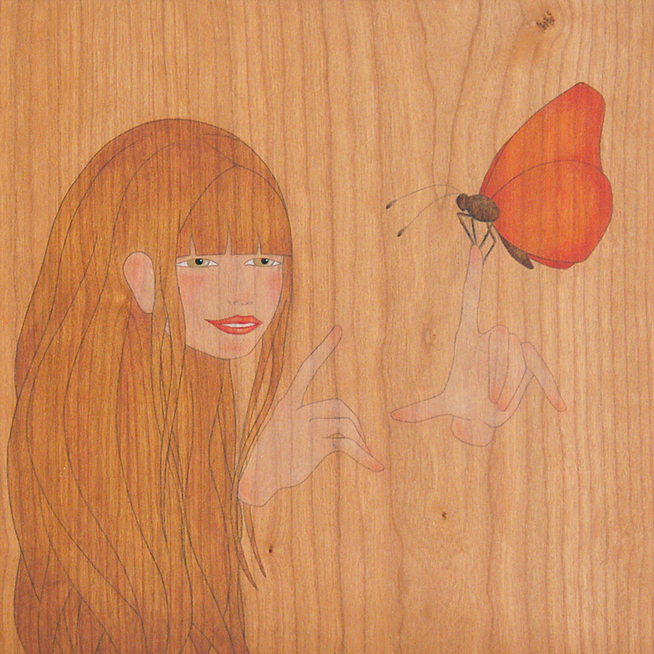 I enjoy contemplating your silky smooth wings little butterfly