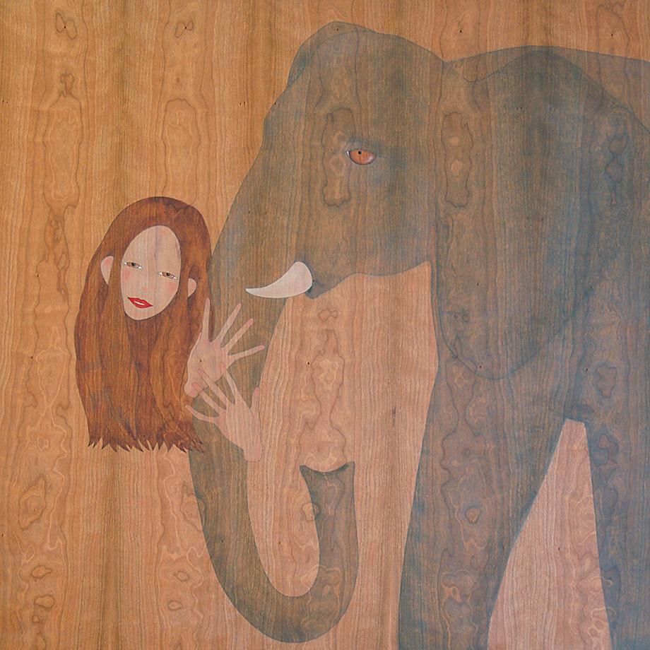 em sento protegida  al teu costat  magestuós elefant
