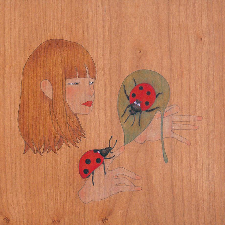 shall I help you  onto the leaf ladybird?