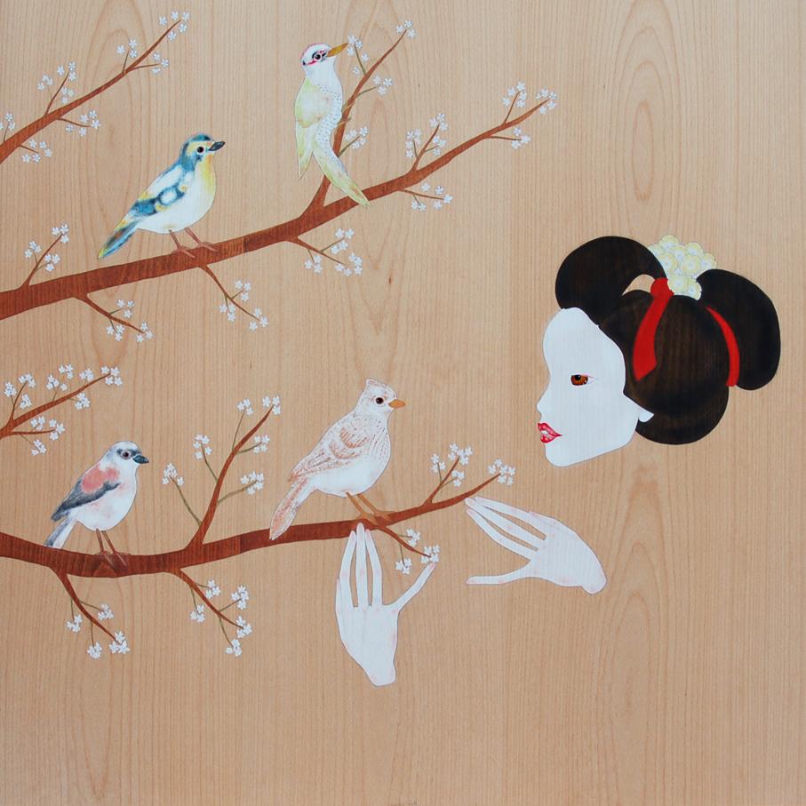 """""""maiko i les branques del cirerer amb ocells"""""""